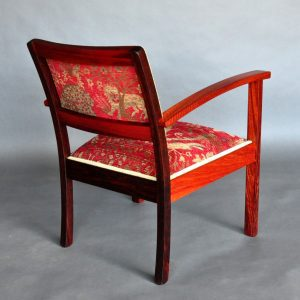 Retro armchair in Jarrah