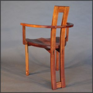 Solid Pod carver chair in Blackwood