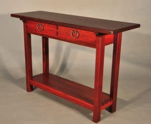Donnelly hall table, jarrah