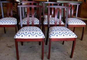 Yoke chairs in Jarrah