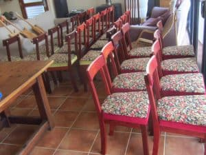 Donnelly chairs in Jarrah
