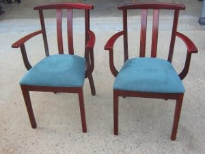 Yoke carver chairs in Jarrah