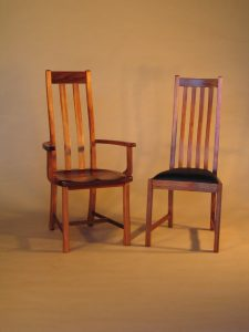 Helena carver and chair in Jarrah