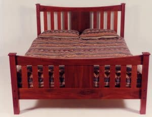 Federation style bed, jarrah