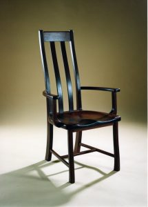 Manor chair in dark Jarrah
